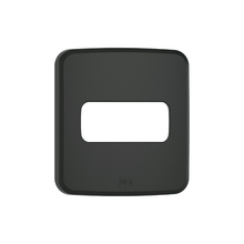 Placa sem Suporte Embutir Moveis 1 Módulo Composé Preta  WEG
