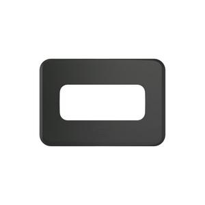 Placa sem Suporte Embutir Moveis PEQ 1 Módulo Composé Preta  WEG