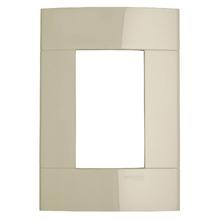 Placa sem Suporte Marfim 4x2 3 Modulos Decor Schneider