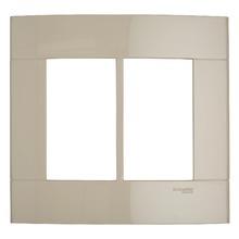 Placa sem Suporte Marfim 4x4 2 Modulos Decor Schneider