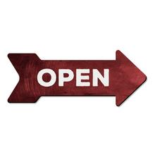 Placa Seta Open 29x11cm
