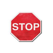 Placa Stop 20x20cm