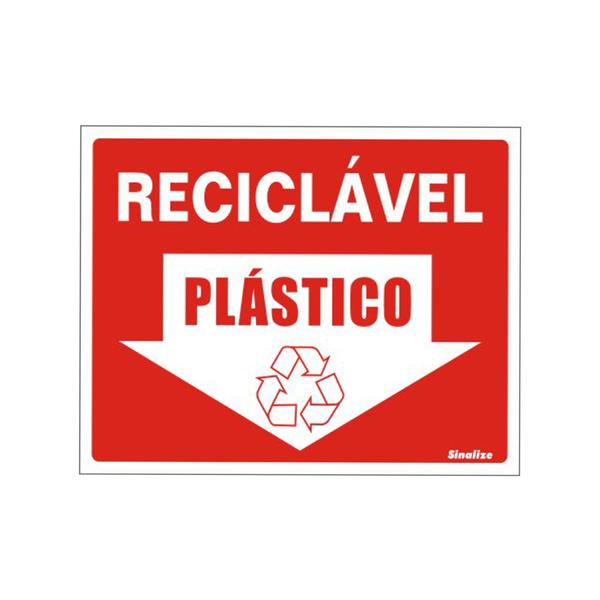 Placa lixo recicl vel pl stico vinil 15x20cm leroy merlin - Placas de gas leroy merlin ...