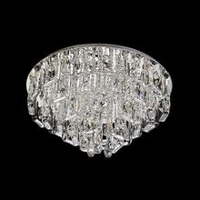Plafon 12 Lâmpadas Transparente Cristal CH3012-3 Chandelie