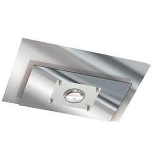 Plafon Pantoja&Carmona 135 Retangular Vidro Branco Bivolt