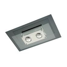 Plafon Pantoja&Carmona 136 Retangular Vidro Transparente