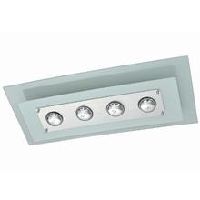 Plafon Pantoja&Carmona 138 Retangular Vidro Branco Bivolt