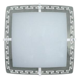 Plafon 2 Lâmp. E27 Quadrado 30x30cm Branco Ema Lustres