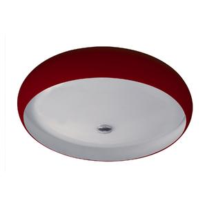 Plafon Pantoja&Carmona 3044 Redondo Vidro Vermelho