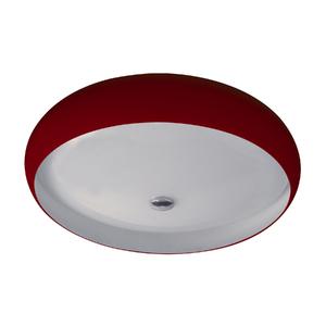 Plafon Pantoja&Carmona 3045 Redondo Vidro Vermelho