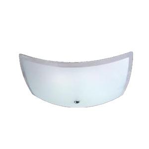 Plafon  28cm Alumínio Branco Attena