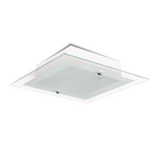 Plafon  Blumenau iluminação 815800 Quadrado Alumínio/Vidro Branco 1 Lamp Bivolt