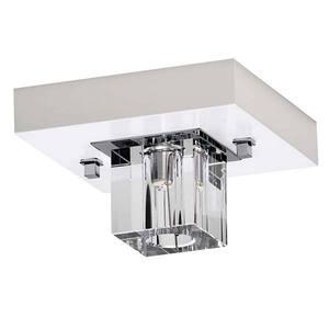 Plafon Cristal Cubo 1 Lâmp. G5 (máx. 50W) Quadrado 12x12cm Branco MM Iluminação