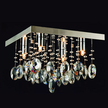 Plafon Cristal Quadrado 4 Lâmpadas Blumenau Iluminação