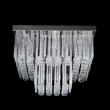Plafon Crystal G Quadrado Cristal Transparente Bivolt