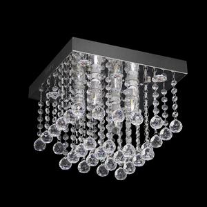 Plafon Crystal M Quadrado Cristal Transparente Bivolt