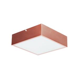 Plafon Damafe Moema Quadrado para 1 Lâmpada Cobre Bivolt
