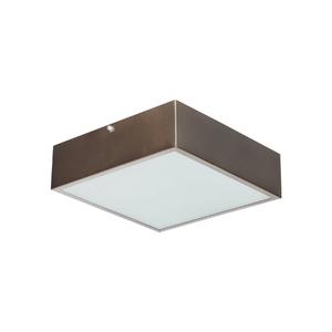 Plafon Damafe Moema Quadrado para 2 Lâmpadas Bronze Bivolt