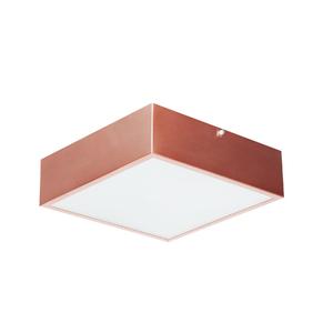 Plafon Damafe Moema Quadrado para 2 Lâmpadas Cobre Bivolt