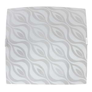 Plafon Inspire Dunas Quadrado Vidro Branco Bivolt