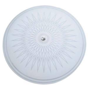 Plafon Estrela 1 Lâmp. E27 Redondo 250x90cm Fosco c/ Silk Branco Cromado Attena