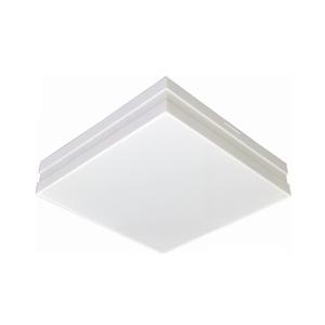 Plafon LED Bilbão Quadrado Acrílico e Alumínio Branco Bivolt