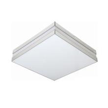 Plafon LED Bilbão Quadrado Acrílico e Alumínio Espelhado Bivolt