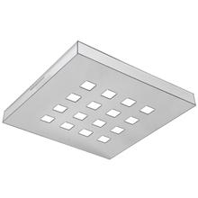 Plafon LED Tualux Paris Quadrado 16W 3000K 26x26cm Plástico Branco Bivolt