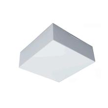 Plafon LED Valência Quadrado Acrílico e Alumínio Branco Bivolt