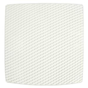 Plafon Inspire Linea Quadrado Alumínio e Vidro Branco Bivolt