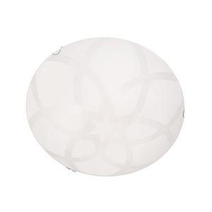 Plafon Lotus  Alumínio/Vidro Branco Kin