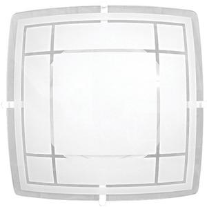 Plafon Luxo 2 Lâmp. E27 Quadrado 30x30cm Branco Ema Lustres