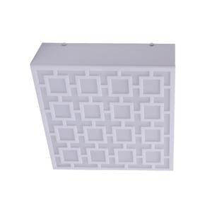 Plafon Inspire Nice Quadrado Plástico Branco Bivolt
