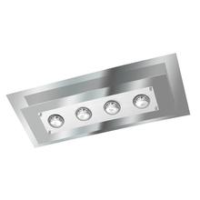 Plafon Pantoja&Carmona 138 Retangular E27 30x70cm Vidro Espelhado