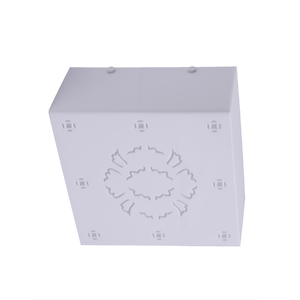 Plafon Inspire Paola Quadrado Plástico Branco Bivolt