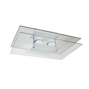 Plafon Pantoja&Carmona PFL 315 Retangular Vidro Branco Bivolt
