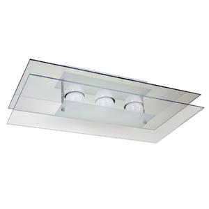 Plafon Pantoja&Carmona PFL 317 Retangular Vidro Branco Bivolt