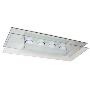 Plafon Pantoja&Carmona PFL 319 Retangular Vidro Branco Bivolt