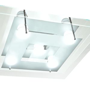 Plafon Pantoja&Carmona PFL 335 Quadrado Vidro Branco Bivolt