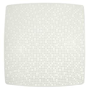 Plafon Inspire Point Quadrado Alumínio e Vidro Branco Bivolt