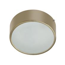 Plafon Lampa Lustre POP Redondo Alumínio e Vidro Bronze