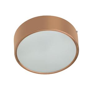 Plafon Lampa Lustre POP Redondo Alumínio e Vidro Cobre