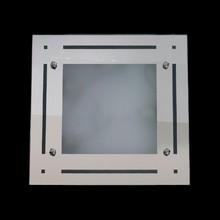Plafon Quadrado 40cm Vidro Espelhado e Jateado para 3 E27