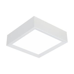 Plafon Spot Line Lumia Quadrado Alumínio/Vidro Branco 5 Lamp Bivolt