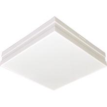Plafon Tualux Quadrado Metal e Plástico Branco 4 Lâmpadas Bivolt