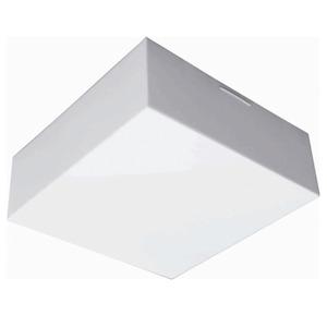 Plafon Tualux Quadrado Metal e Plástico Branco Bivolt