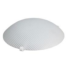 Plafon Home Line Saturno Redondo Aço/Vidro Branco 1 Lamp Bivolt