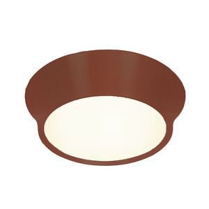 Plafon Spot Line Optimus Redondo Alumínio/Vidro Café 2 Lamp Bivolt