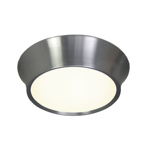 Plafon Spot Line Optimus Redondo Alumínio/Vidro Prata 2 Lamp Bivolt