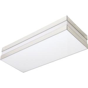 Plafon Tualux Retangular Metal e Plástico Branco 2 Lâmpadas Bivolt